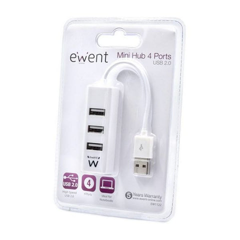 USB Hub Ewent EW1122 White-Universal Store London™
