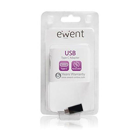 Image of USB C to Micro USB 2.0 Adapter Ewent EW9645 5V Black-Universal Store London™