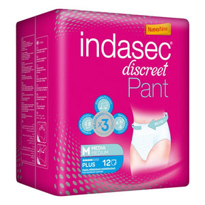 Incontinence Nappies Pant Plus Indasec (12 uds)-Universal Store London™