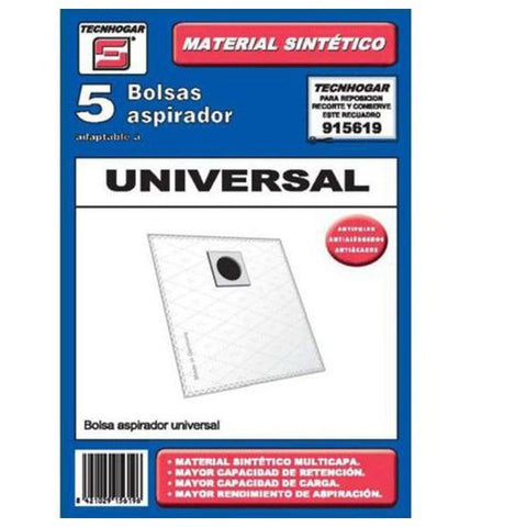 Universal Replacement Bag for Vacuum Cleaner Tecnhogar 915619 (5 uds)-Universal Store London™