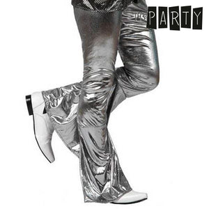 Adult Trousers Th3 Party Disco Shine Silver-Universal Store London™