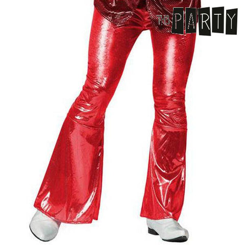 Adult Trousers Th3 Party Disco Shine Red-Universal Store London™
