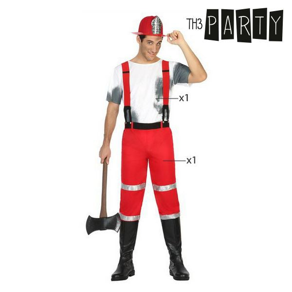 Costume for Adults Th3 Party Fireman-Universal Store London™