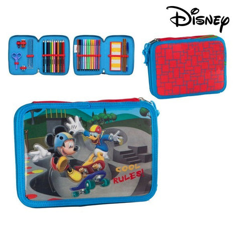 Pencil Case Mickey Mouse 75114 Blue-Universal Store London™