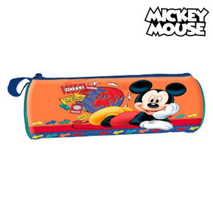 Cylindrical School Case Mickey Mouse 32367 Orange-Universal Store London™