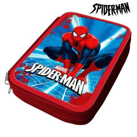 Pencil Case Spiderman 32466 Red-Universal Store London™