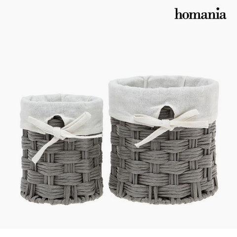 Set of Baskets Homania 2978 (2 pcs) Grey-Universal Store London™