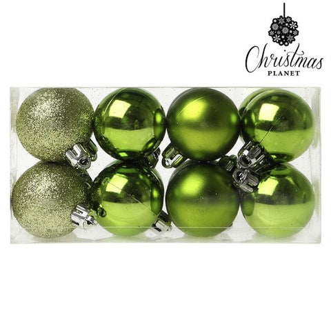 Christmas Baubles Christmas Planet 6479 4 cm (16 uds) Green-Universal Store London™