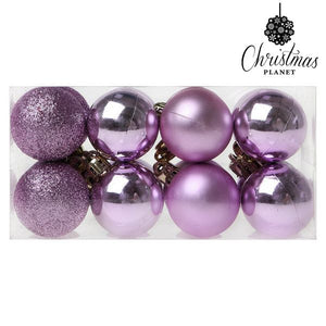 Christmas Baubles Christmas Planet 6721 4 cm (16 uds) Purple-Universal Store London™