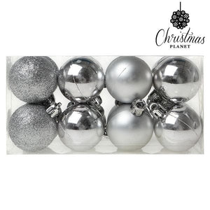 Christmas Baubles Christmas Planet 6868 4 cm (16 uds) Silver-Universal Store London™