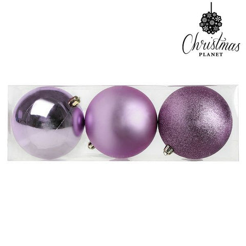 Christmas Baubles Christmas Planet 7339 10 cm (3 uds) Purple-Universal Store London™