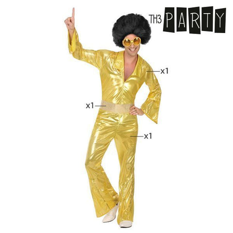 Costume for Adults Th3 Party Disco Golden-Universal Store London™