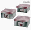 Decorative box Homania 7635 (3 uds) Carboard-Universal Store London™