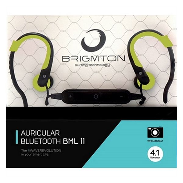 Bluetooth Headset with Microphone BRIGMTON BML-11-V Green-Universal Store London™