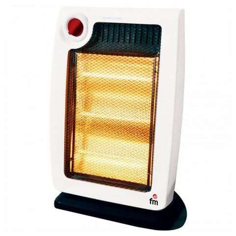 Electric Halogen Heater Grupo FM H20 1200W White/black-Universal Store London™