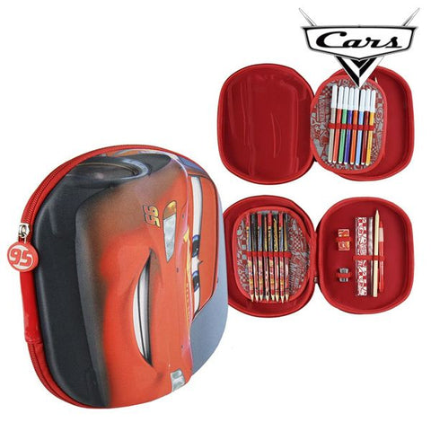 Triple Pencil Case Cars 3493 Red-Universal Store London™