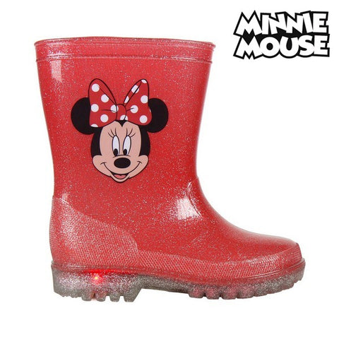 Children's Water Boots with LEDs Minnie Mouse 73498 Red-Universal Store London™