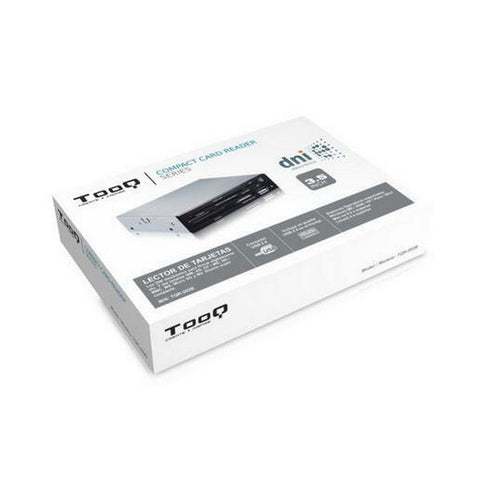 "Internal SIM / ID Card Reader TooQ TQR-202B 3½"" USB 2.0 Micro SD/M2 480 Mbps Black-Universal Store London™"