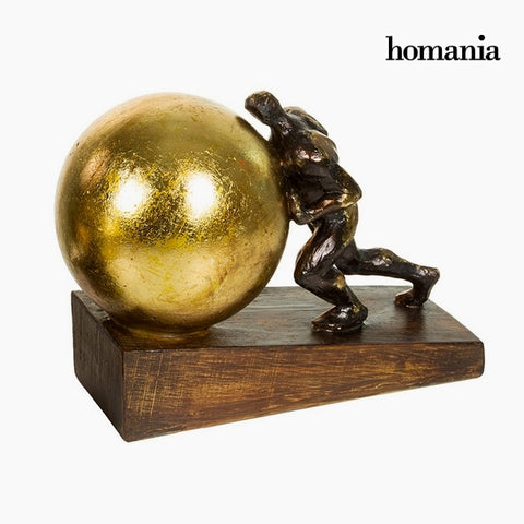 Image of Decorative Figure Resin Gold (23 x 13 x 17 cm) by Homania-Universal Store London™