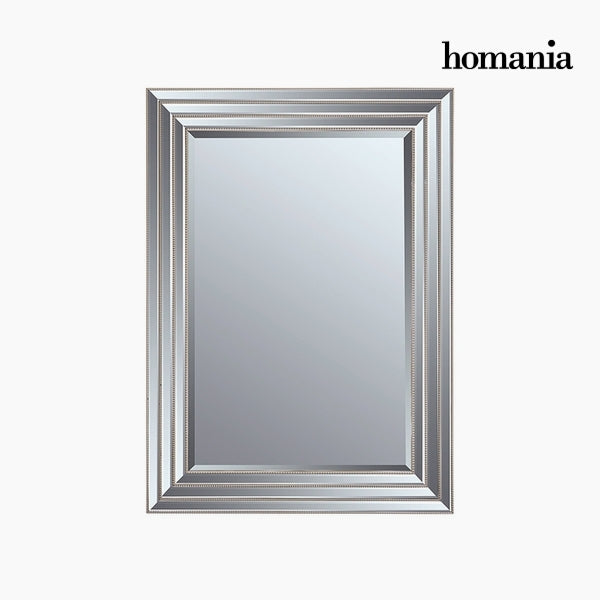 Mirror Synthetic resin Bevelled glass Silver (82 x 3 x 112 cm) by Homania-Universal Store London™
