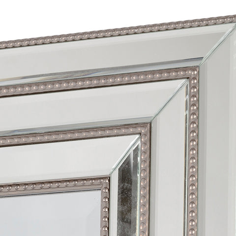 Image of Mirror Synthetic resin Bevelled glass Silver (82 x 3 x 112 cm) by Homania-Universal Store London™