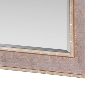Mirror Synthetic resin Bevelled glass Wood Silver (76 x 3 x 106 cm) by Homania