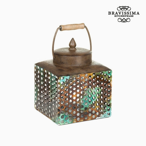 Box with cover Iron (20 x 19 x 25 cm) by Homania-Universal Store London™