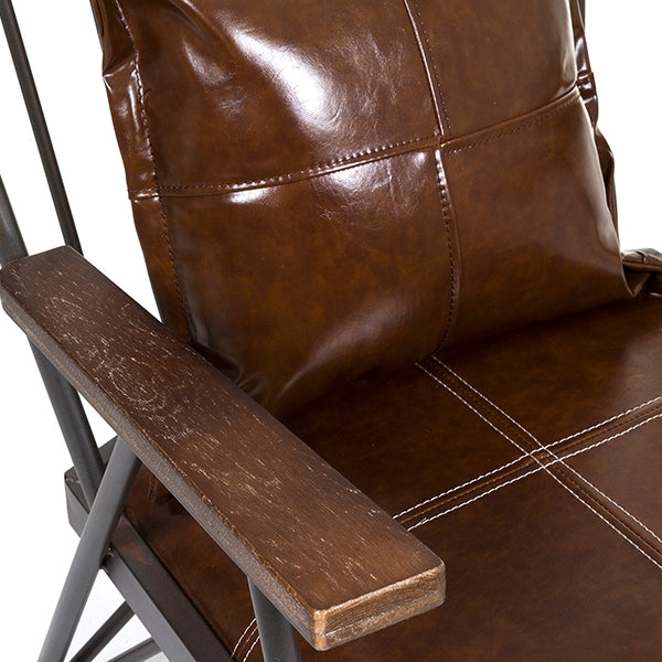 Armchair Dark brown Iron (71x 83 x 88 cm) by Craftenwood-Universal Store London™