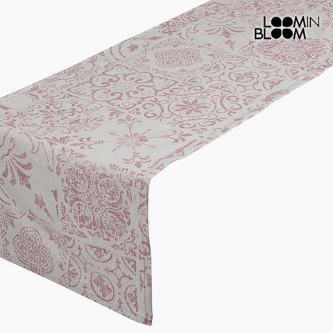 Table Runner Cotton and polyester Pink (135 x 40 x 0,05 cm) by Loom In Bloom-Universal Store London™