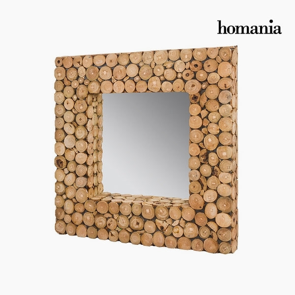 Mirror Recycled wood (47 x 6 x 47 cm) by Homania-Universal Store London™