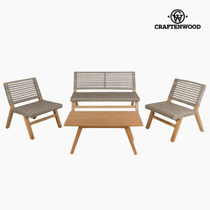 Garden furniture (4 pcs) Resin by Craftenwood-Universal Store London™