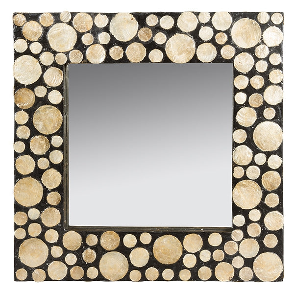 Mirror Mother of pearl (54 x 4 x 54 cm) by Homania-Universal Store London™