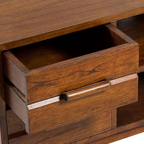 Television Table Mindi wood (4 drawers) (120 x 40 x 54 cm) by Craftenwood-Universal Store London™