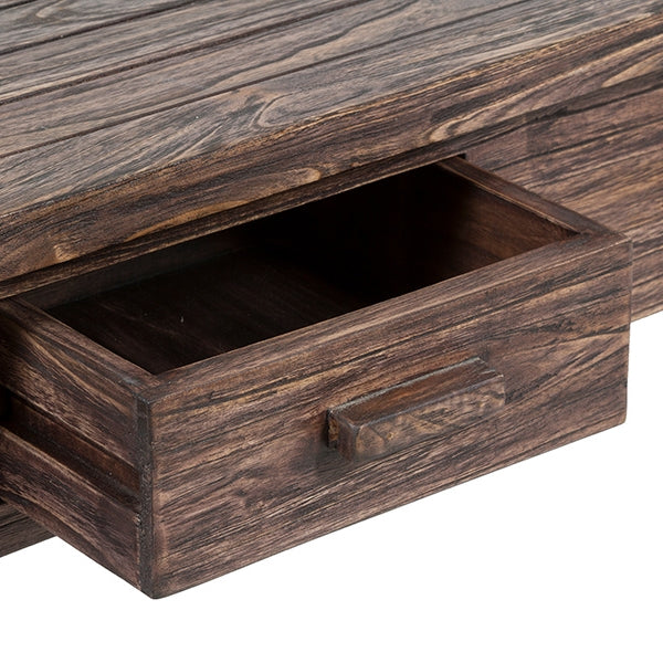 Hall Table with 2 Drawers Mindi wood (90 x 35 x 78 cm) by Craftenwood-Universal Store London™