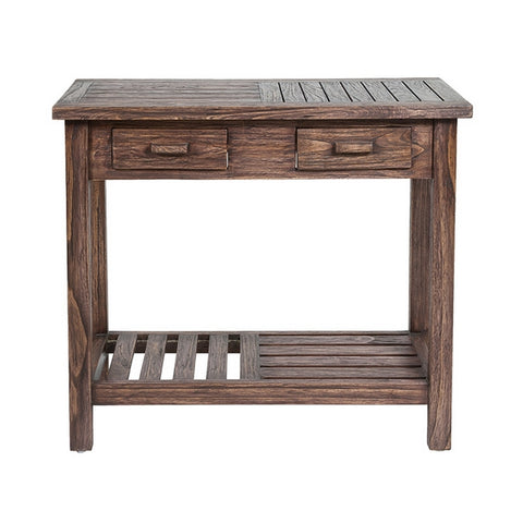Image of Hall Table with 2 Drawers Mindi wood (90 x 35 x 78 cm) by Craftenwood-Universal Store London™