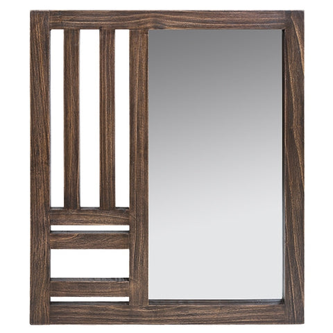 Mirror Mindi wood (70 x 3 x 80 cm) by Homania-Universal Store London™