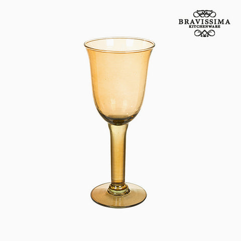 Image of Recycled Wine Glasses (6 pcs) 350 ml Yellow - Crystal Colours Kitchen Collection by Bravissima Kitchen-Universal Store London™