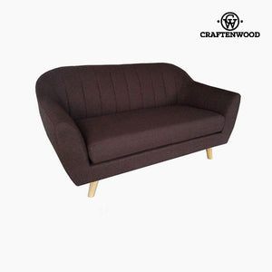 2-Seater Sofa Pine Polyester Brown (145 x 83 x 83 cm) by Craftenwood-Universal Store London™