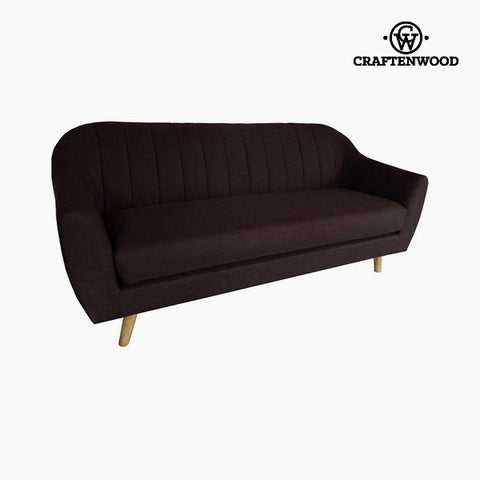 3-Seater Sofa Pine Polyester Brown (195 x 83 x 83 cm) by Craftenwood-Universal Store London™