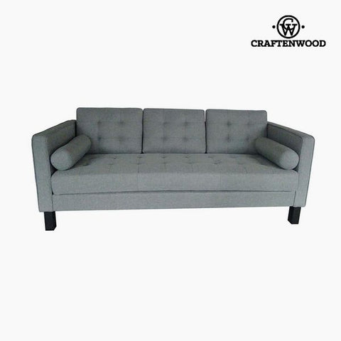 2-Seater Sofa Pine Polyester Grey (203 x 81 x 81 cm) by Craftenwood-Universal Store London™