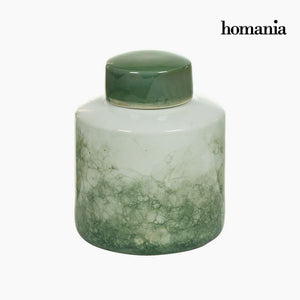 Tibor Stoneware Green (18 x 18 x 22 cm) by Homania-Universal Store London™