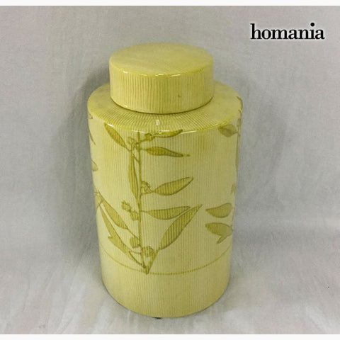Tibor Stoneware Yellow (11 x 11 x 20 cm) by Homania-Universal Store London™