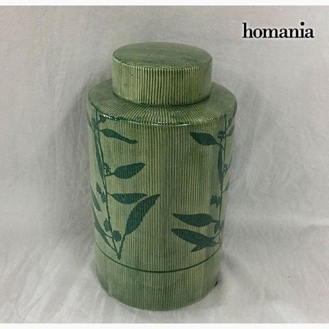 Tibor Stoneware Green (11 x 11 x 20 cm) by Homania-Universal Store London™