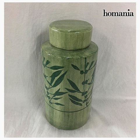 Tibor Stoneware Green (13 x 13 x 25 cm) by Homania-Universal Store London™