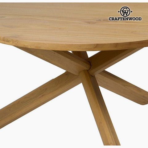 Image of Table Mindi wood (130 x 130 x 79 cm) by Craftenwood-Universal Store London™