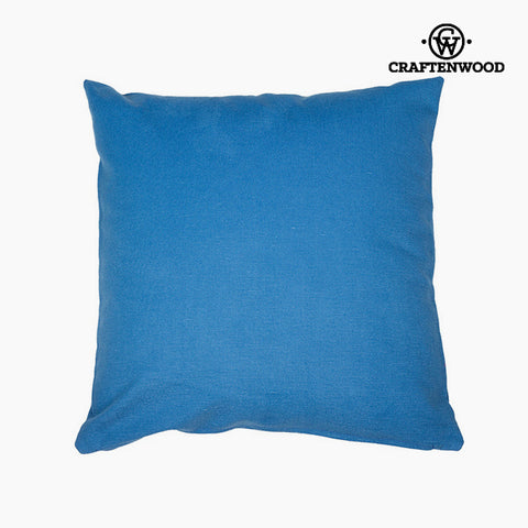 Puff Blue (90 x 90 x 25 cm) by Craftenwood-Universal Store London™