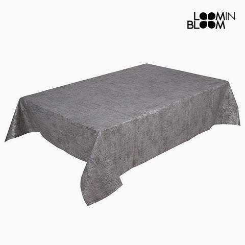 Tablecloth Grey 135 x 200 x 0,05 cm by Loom In Bloom-Universal Store London™