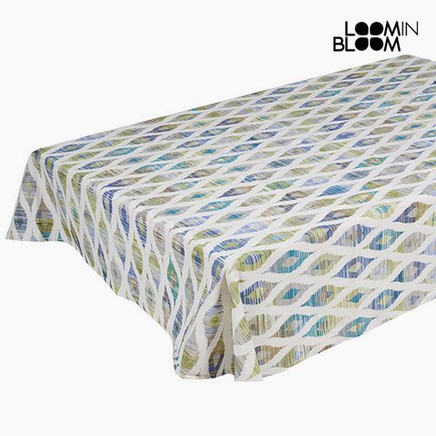 Tablecloth Blue (135 x 200 x 0,05 cm) by Loom In Bloom-Universal Store London™