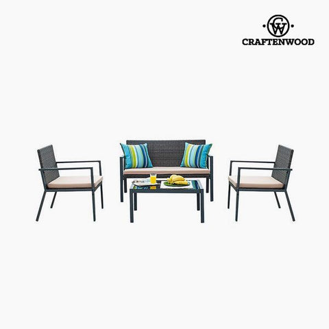 Sofa and table set (4 pcs) by Craftenwood-Universal Store London™