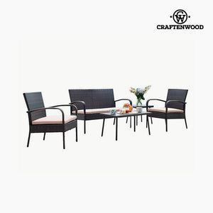 Sofa and table set (5 pcs) by Craftenwood-Universal Store London™